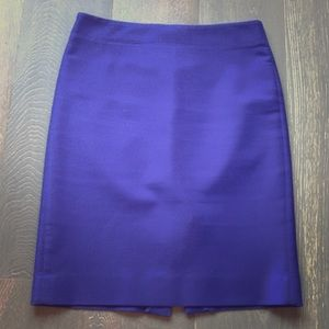 J Crew purple pencil skirt, stretch cotton